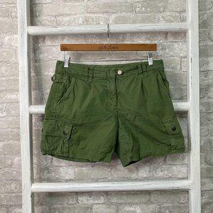 J Crew Broken-In Chino Twill Shorts Green Size 6